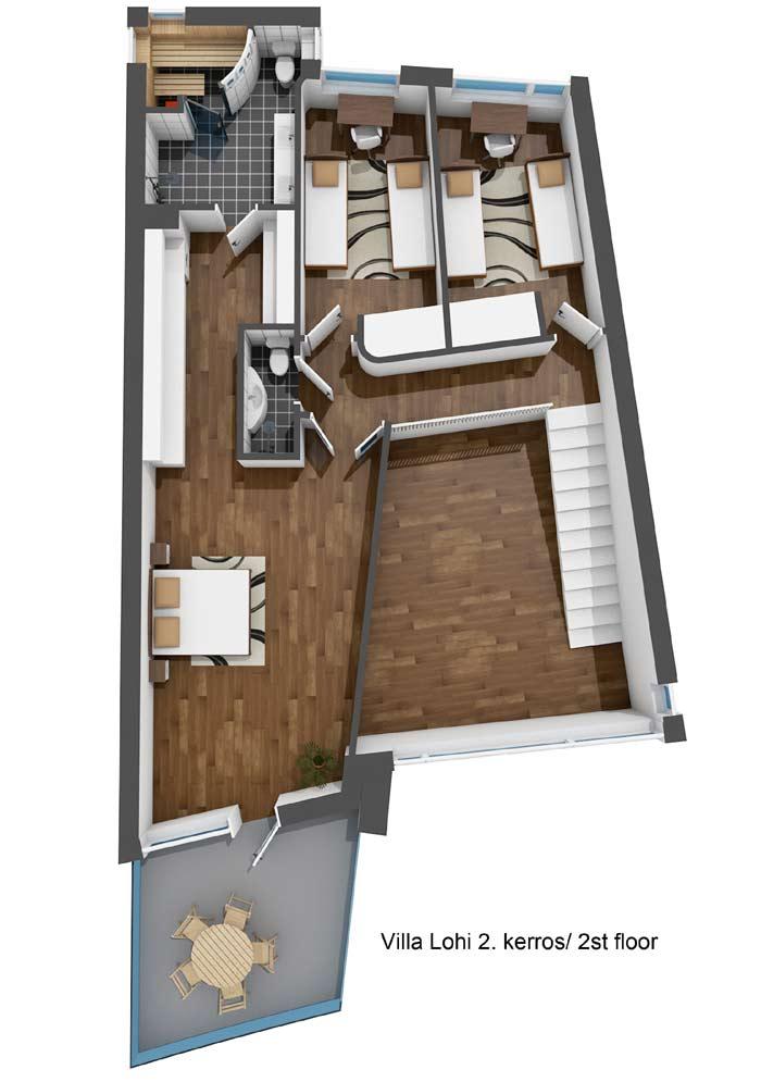 Villa Lohi 2. kerros / 2nd-floor