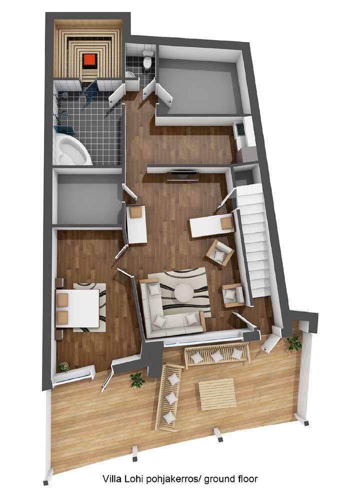 Villa Lohi pohjakerros / ground-floor